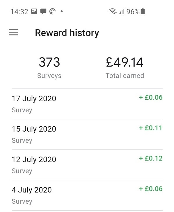 My Google Play credit