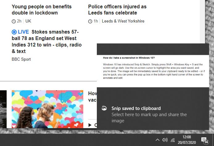 take screenshot windows 10