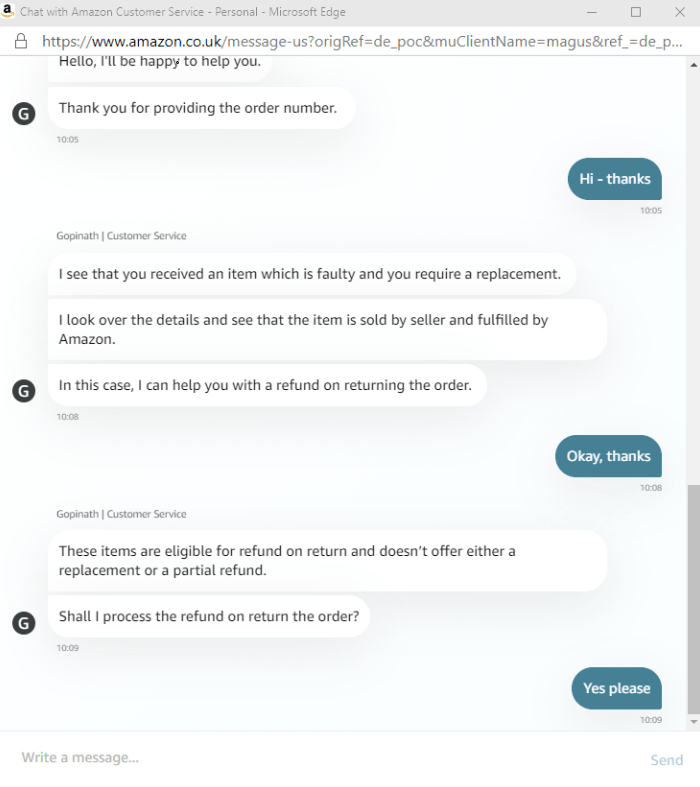 Amazon Chat connect to assistant