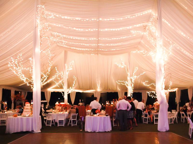 lighting decor big tent events