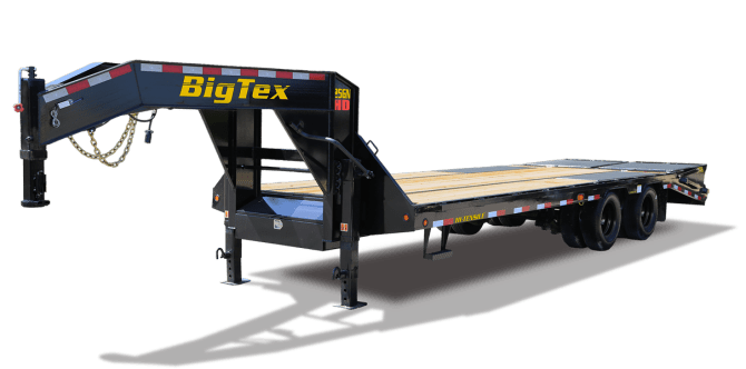 big tex trailers 25gn heavy duty tandem dual gooseneck trailer