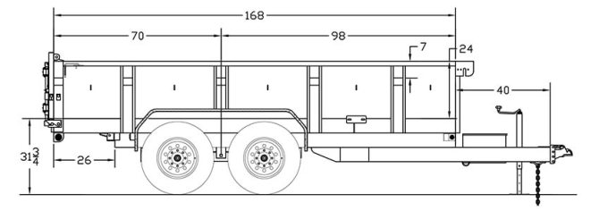 7x14 big tex 14lx dump  orlandi trailer inc in san jose ca