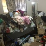 Arlington cat hoarder house bedroom