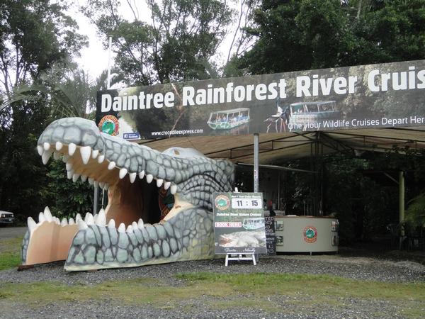 The big crocodile head in Daintree