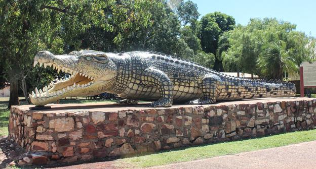The big crocodile in Normanton