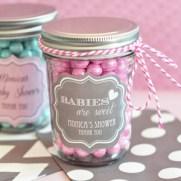 baby shower mason jar favor
