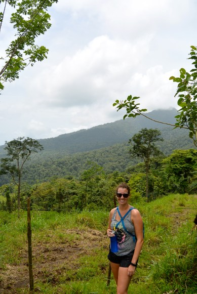 Brittany standing before the jungle