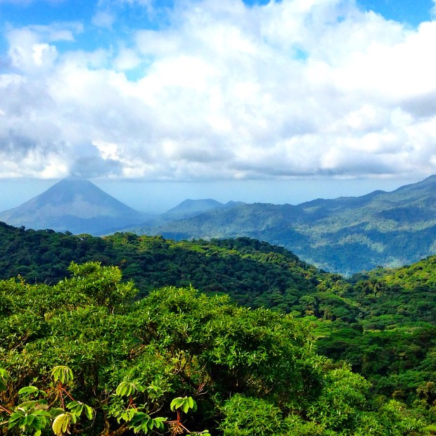 View of Arenal Volcano from Monteverde