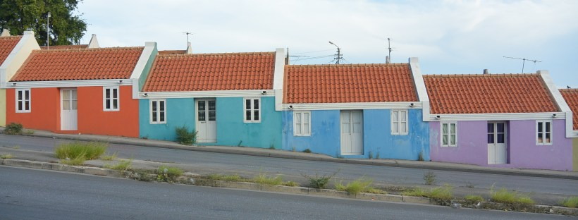 Colourful buildings in Curacao