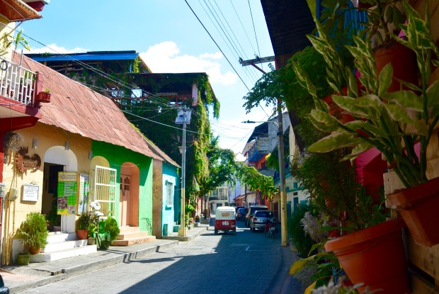 Streets in Flores, Guatemala