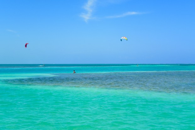 Water activities on Caye Caulker