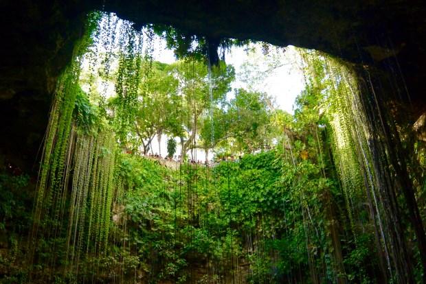 Ik Kil cenote near Cancun, Mexico