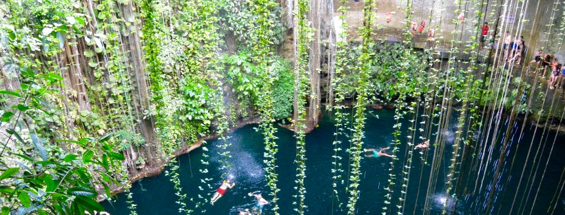Ik Kil cenote near Cancun, Mexico