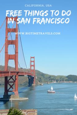 Free Things in San Francisco Pin