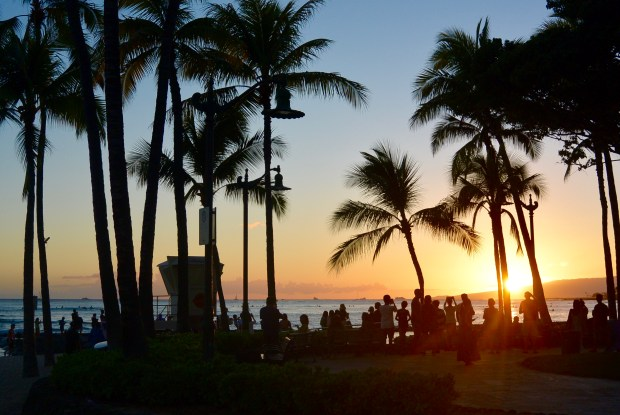 Sunset on Waikiki Beach, Oahu