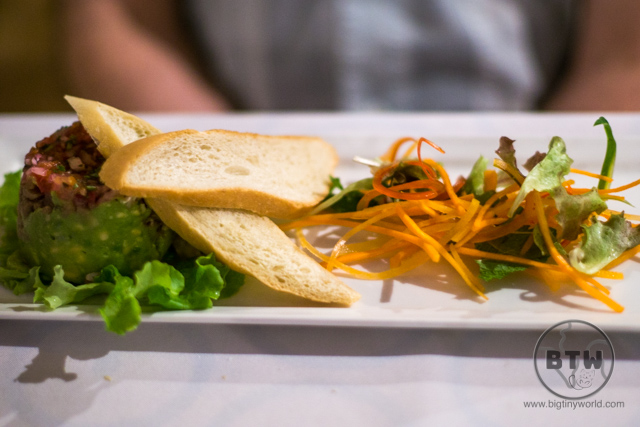 An appetizer at a restaurant at the Doubletree Resort in Puntarenas, Costa Rica | BIG tiny World Travel