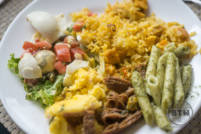 A plate of food at the Doubletree Resort in Puntarenas, Costa Rica | BIG tiny World Travel