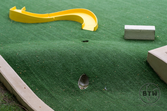 One hole of the mini golf course at the Doubletree Resort in Puntarenas, Costa Rica | BIG tiny World Travel