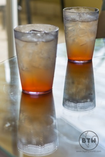 Two glasses of guaro sour at a resort in Costa Rica   BIG tiny World Travel