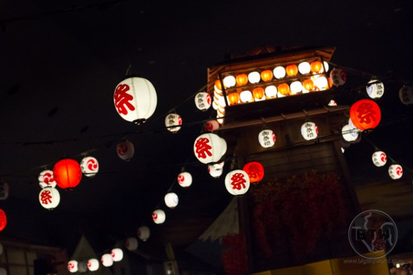 Japanese lanterns at a sentou