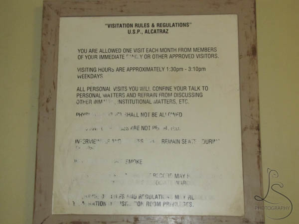 Visitation rules Alcatraz