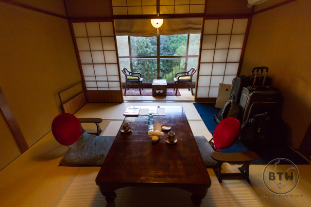 A room at a ryokan in Kyoto, Japan