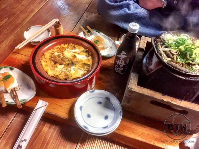 Part of our meal spread at the Komakata Dozeu restaurant in Asakusa, Tokyo, Japan, including yanagawa and dozeu nabe | BIG tiny World Travel