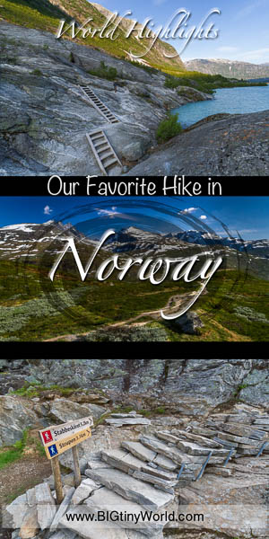 World Highlights: Our Favorite Hike in Norway | BIG tiny World Travel | We couldn't get enough of Norway's beauty, and we hiked so many trails across its stunning landscape.  Click here to see which one was our favorite of the bunch so you can add it to your Norway bucket list! | #norwayhikes #internationaltravel #travelcouple #travelblog