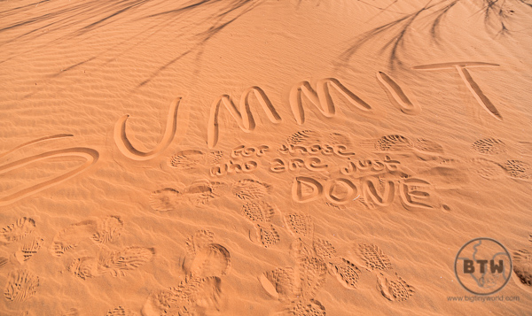 Sand at Elim Dune in Namibia