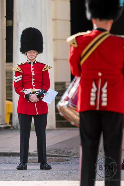 Changing of the Guard, candid smile