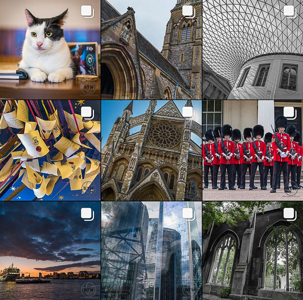A sampling grid from our travel Instagram account