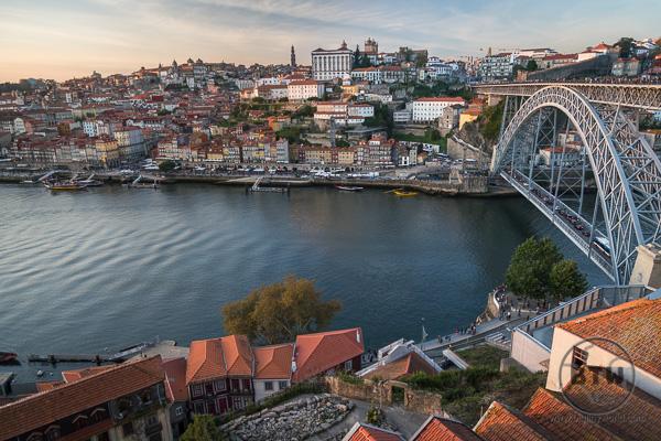 View of Bridge in Porto Portugal