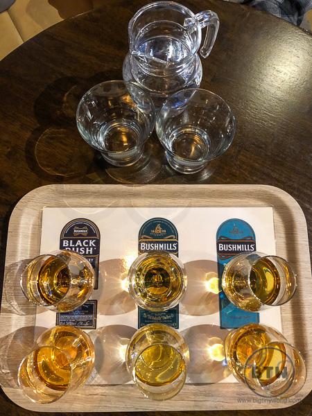 Bushmills Distillery Tasting Tray