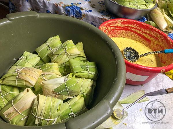Humitas - Peruvian corn cakes