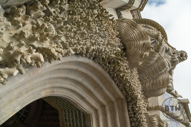 The arch of Triton Pena Palace Sintra Portugal