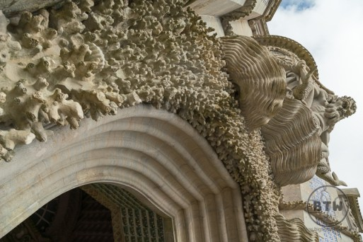 The arch of Triton, Pena Palace, Sintra, Portugal