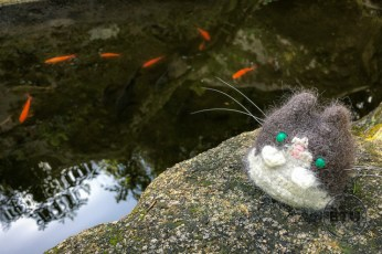 Pena Palace Gardens Pond with Travel Cat