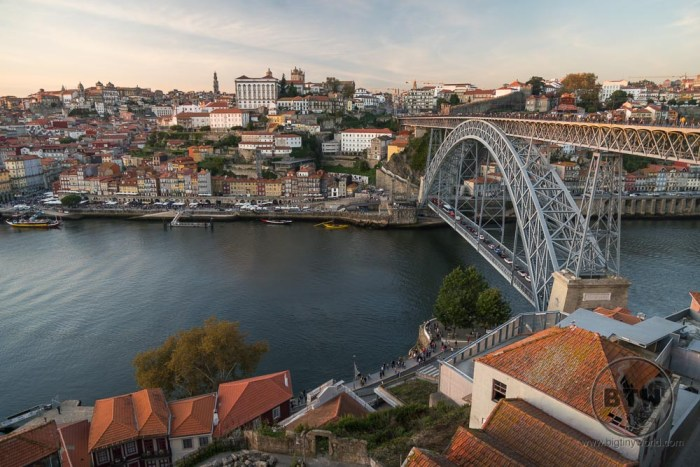 Sunset at the Dom Lois I Bridge, Porto, Portugal