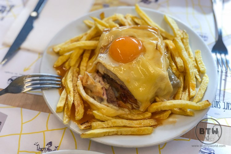 Francesinha sandwich in Porto, Portugal