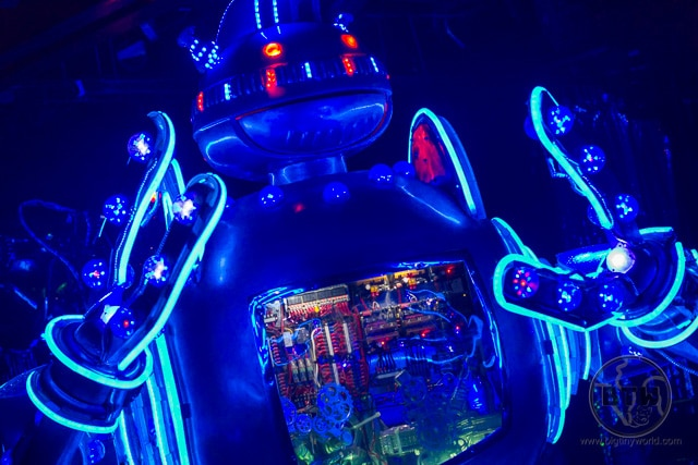 Blue robot from the Robot Restaurant in Tokyo, Japan