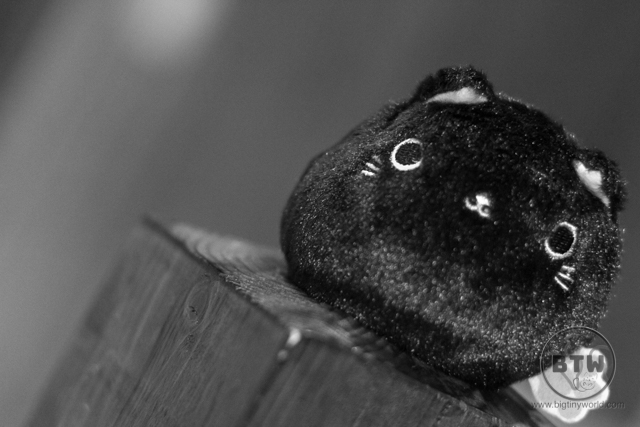 A black cat ball stuffed animal in Japan