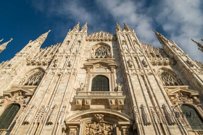 The Milan cathedral in Italy