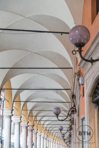 Covered walkway in Modena, Italy