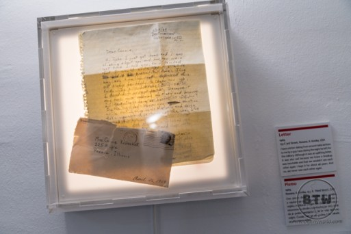 An old letter at the Museum of Broken Relationships in Zagreb, Croatia