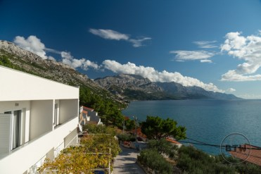 The view from a hostel just outside of Omis, Croatia