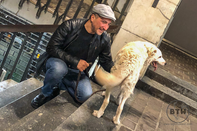 Our couchsurfer recently reunited with his dog, Fiacco