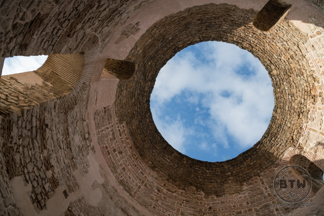 An open dome in the old city of Split, Croatia