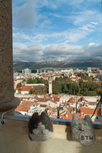 The view from atop the tallest tower in Split, Croatia