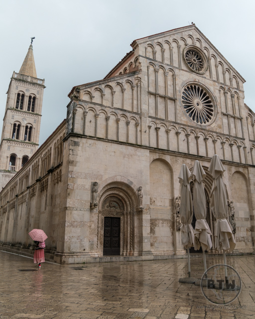 A church on a rainy day in Zadar, Croatia