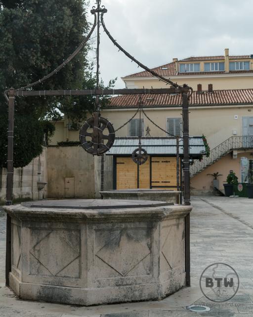 Wells in a plaza in Zadar, Croatia